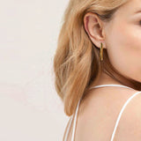 Edie Bar Earrings - Silver