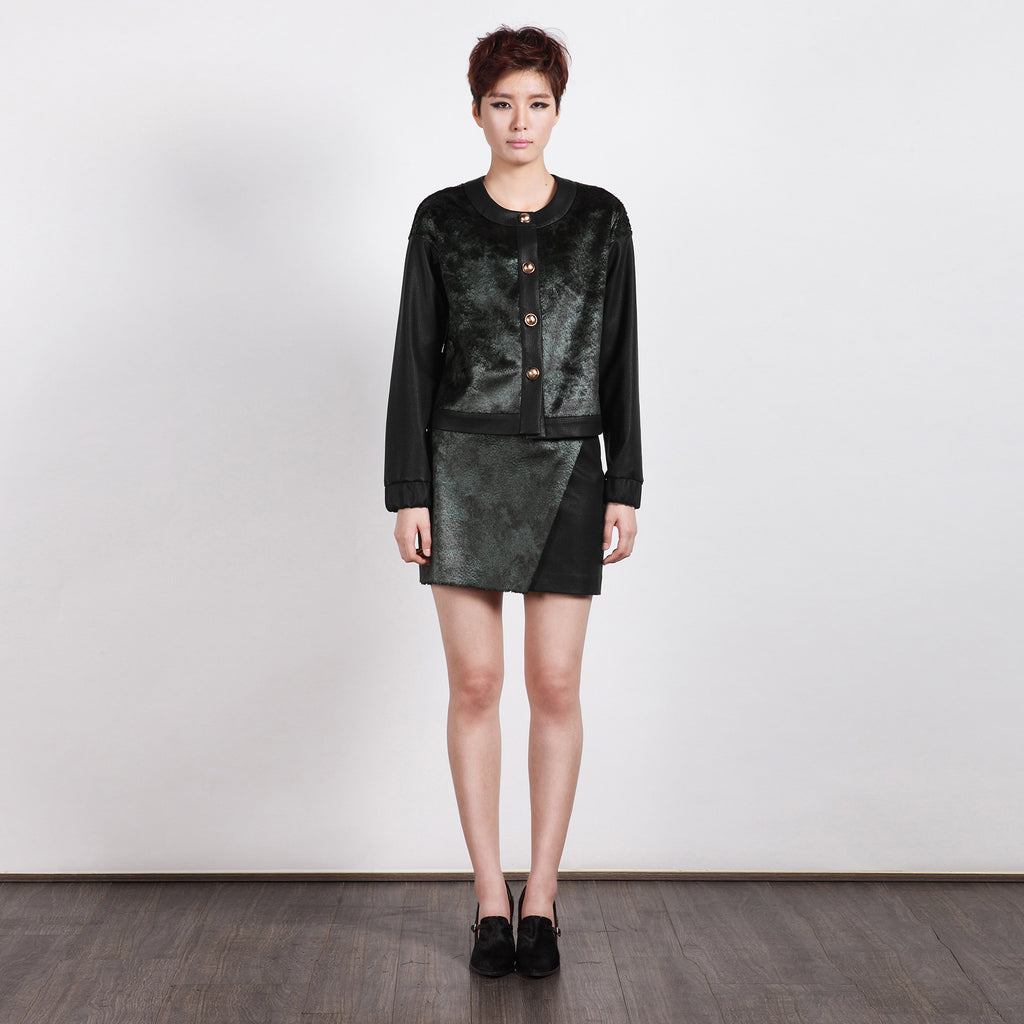 Coren Leather Mini Skirt