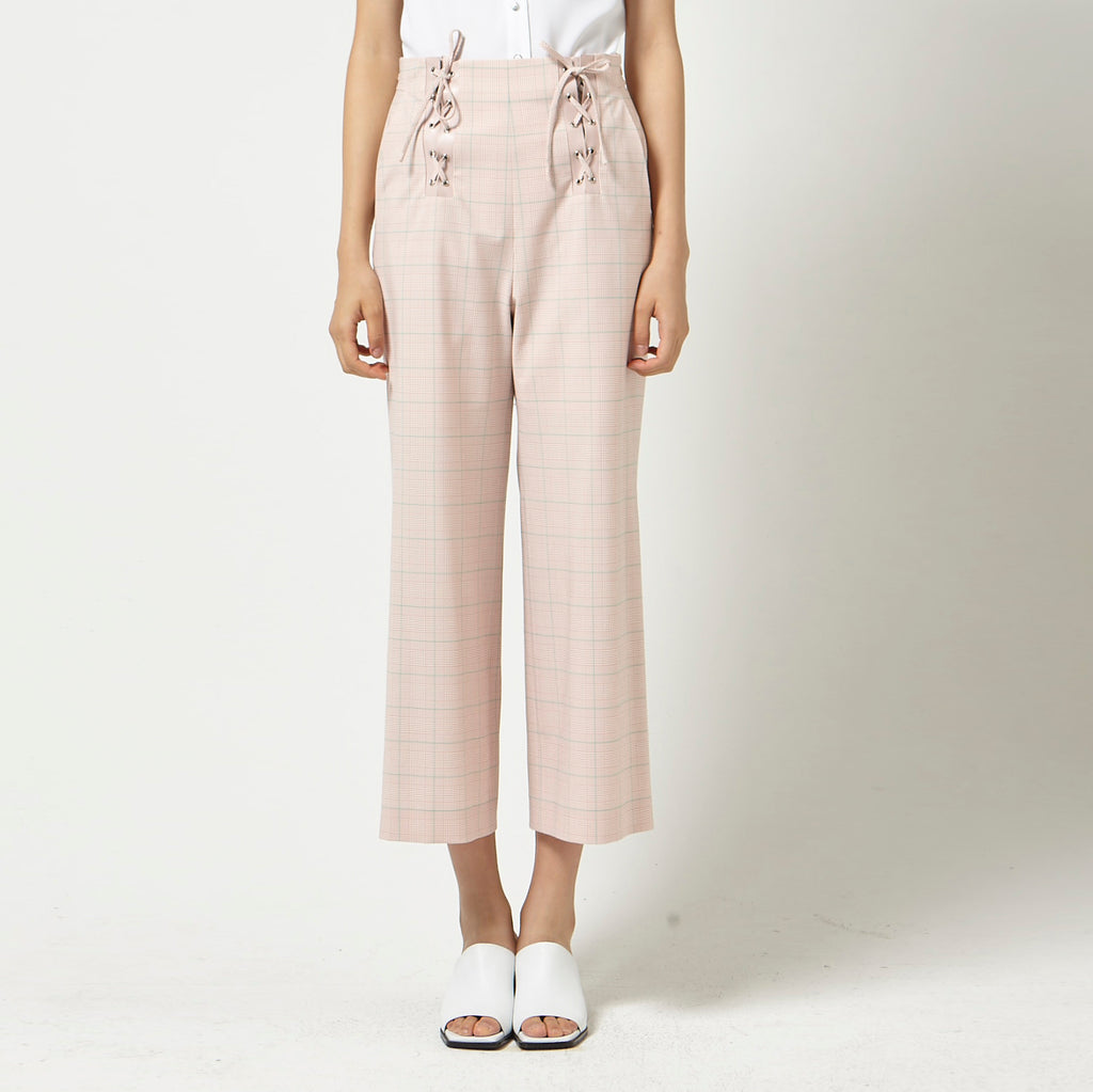 Cropped Pants with Braided Detail