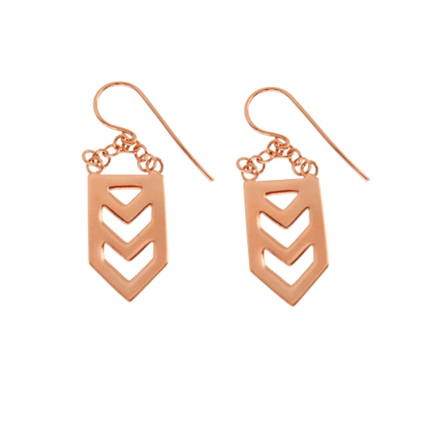Nishi Earrings - Rose Gold