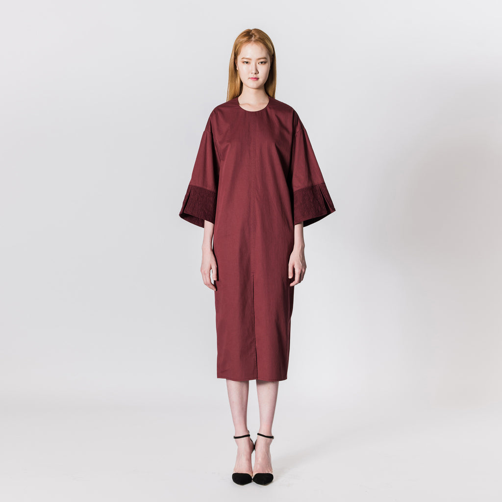 Cotton Dress with 3/4 Sleeves