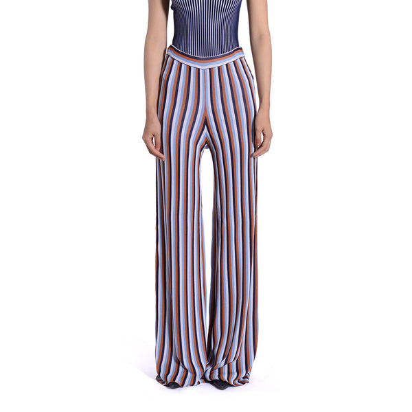 Lourdes Knit Striped Wide Leg Pants