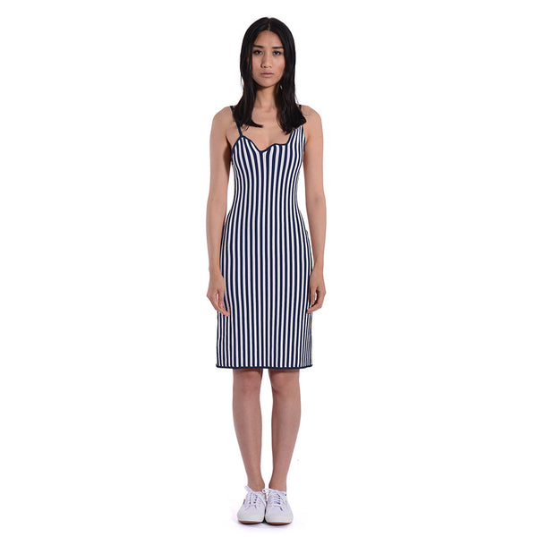 Luna Striped Bodycon Tank Dress