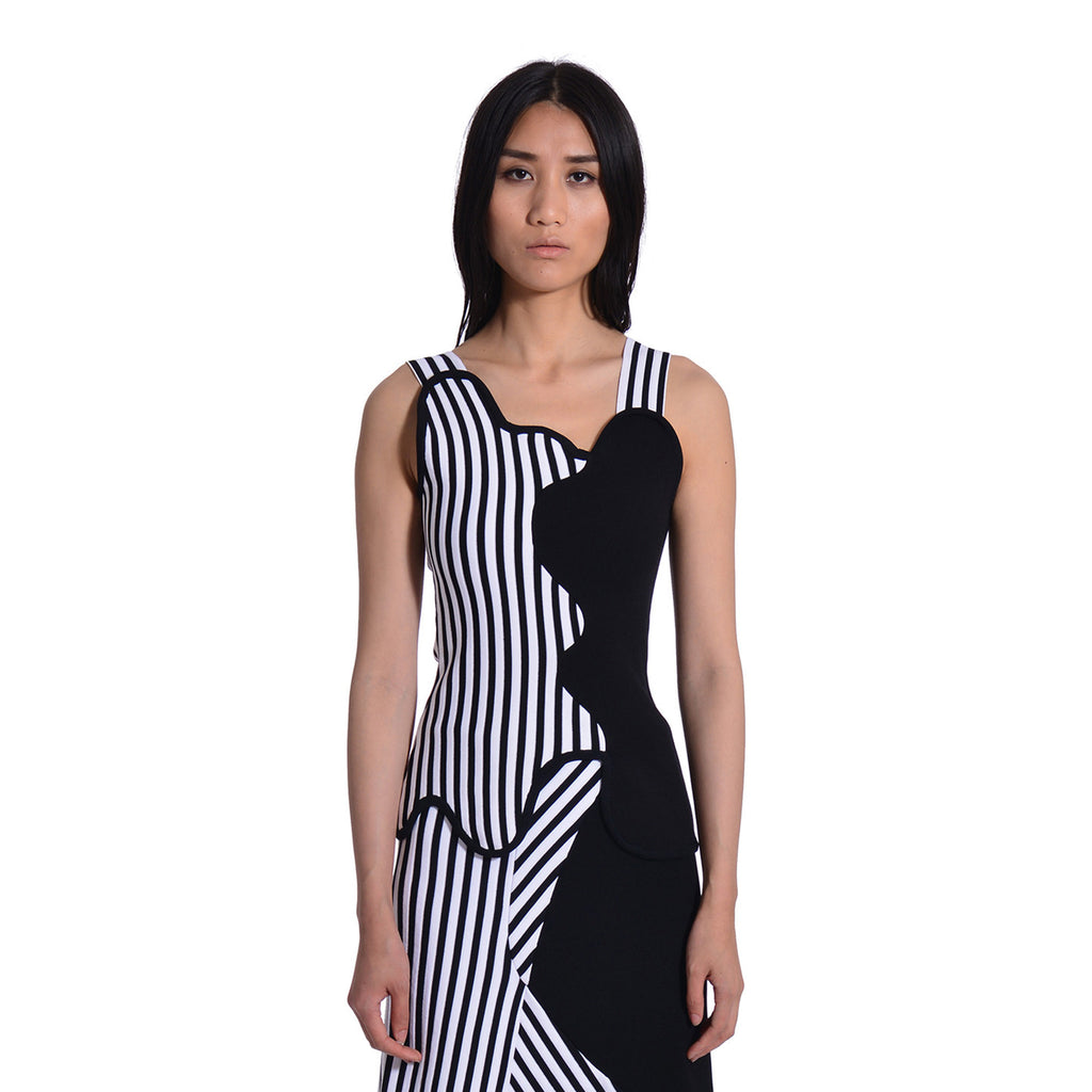 Cece Striped Asymmetric Tank