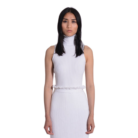 Reanna Peplum Turtleneck Sleeveless Top