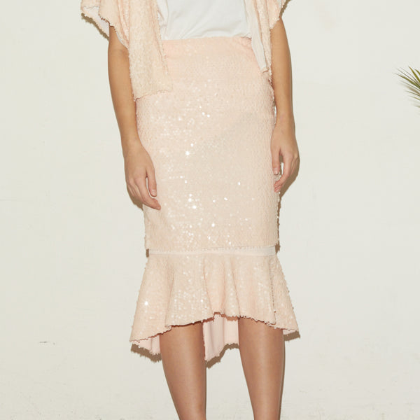 Pink Spangle Layer Skirt