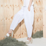 Cotton Cuffed Trousers