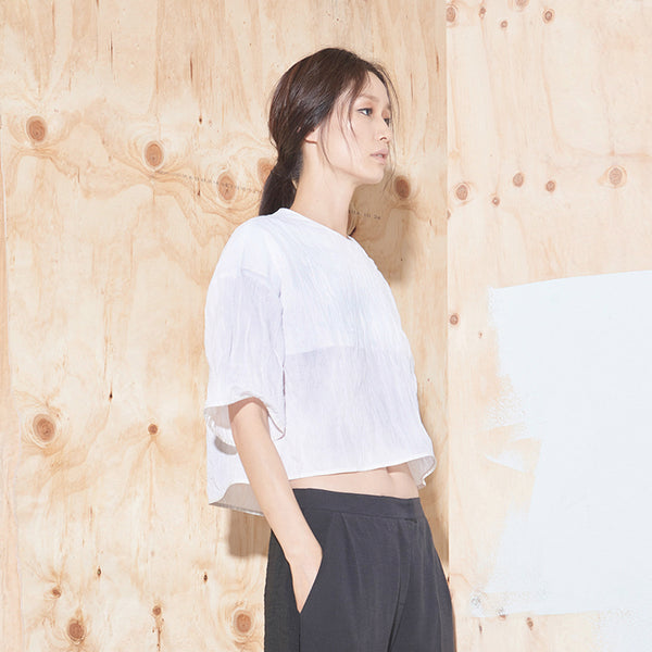 Textured Cropped Top