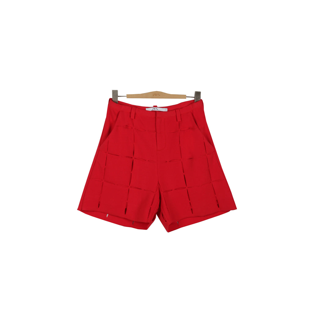 Pana Knit Shorts - Ruby Red
