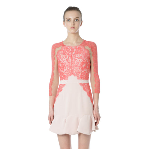 Four Nights 3/4 Sleeve Lace Dress