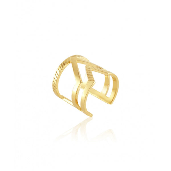 Chevron Duo Ring - Gold