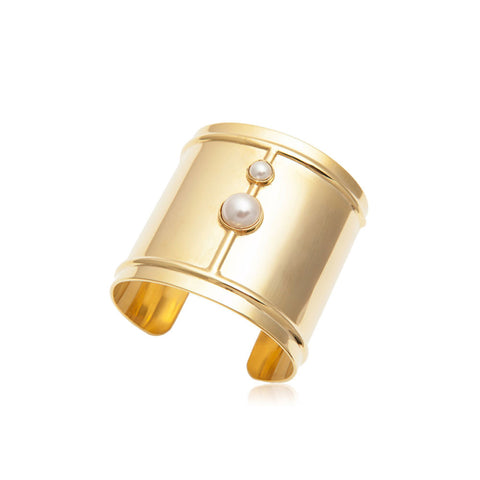 Duo Pearl Cuff - Gold