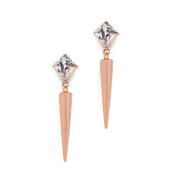Dylan Earrings - Rose Gold