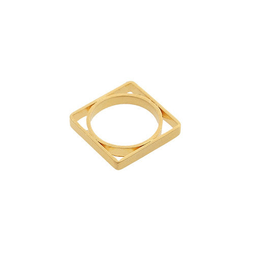 Satori Square Ring - Gold