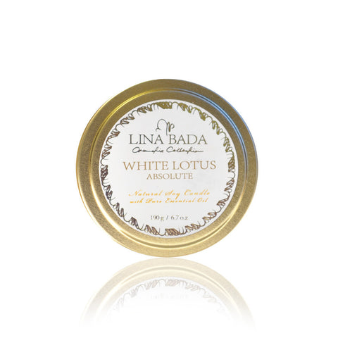 White Lotus Travel Tin Candle