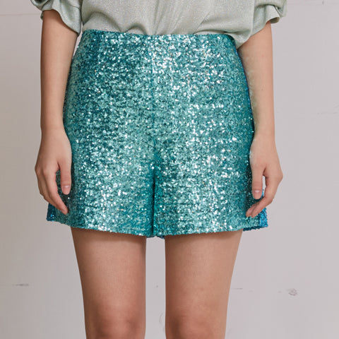 Green Spangle Shorts