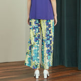 Blue Bubble Wide Pants