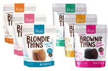 Load image into Gallery viewer, Lillabee Brownie & Blondie Thins - Variety Pack - All Six Flavors! - 6 Pack - Grain Free, Paleo Friendly