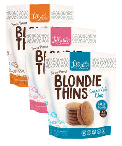 Lillabee Blondie Thins - Variety Pack - All Three Flavors - 3 Pack - Grain Free, Paleo Friendly