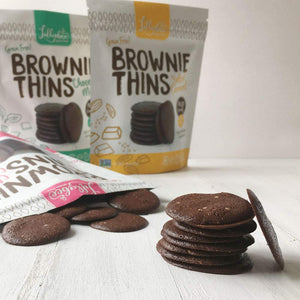 Lillabee Brownie Thins - Classic Chocolate - 3 Pack - Grain Free, Paleo Friendly