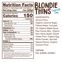 "Load image into Gallery viewer, Lillabee Blondie Thins - Cocoa Nib ""Chip"" - 3 Pack - Grain Free, Paleo Friendly"