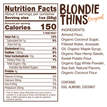 Load image into Gallery viewer, Lillabee Blondie Thins - Original Vanilla - 3 Pack - Grain Free, Paleo Friendly