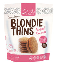 Load image into Gallery viewer, Lillabee Blondie Thins - Toasted Coconut - 3 Pack - Grain Free, Paleo Friendly