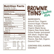 Load image into Gallery viewer, Lillabee Brownie Thins - Mint Chocolate - 3 Pack - Grain Free, Paleo Friendly