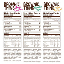 Load image into Gallery viewer, Lillabee Brownie Thins - Variety Pack - 3 Pack - Grain Free, Paleo Friendly