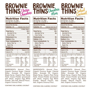 Lillabee Brownie Thins - Variety Pack - 3 Pack - Grain Free, Paleo Friendly