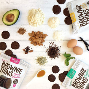 Lillabee Brownie Thins - Mint Chocolate - 3 Pack - Grain Free, Paleo Friendly