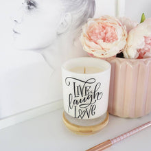 Load image into Gallery viewer, Large Quote Candle - Live Laugh Love