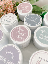 Load image into Gallery viewer, Travel Tin Quote Candle | #mumlife