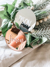 Load image into Gallery viewer, Personalised Christmas Bauble Decoration