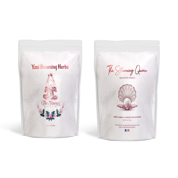 Queen Detox Pearls and Steaming Herbs Bundle