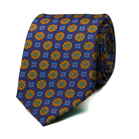ABACERÍA - Printed silk tie with initials - The Seëlk - 1