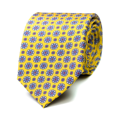 ABUHADO - Printed silk tie with initials - The Seëlk - 1