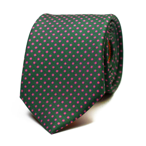 ADAMAR - Printed silk tie with initials - The Seëlk - 1