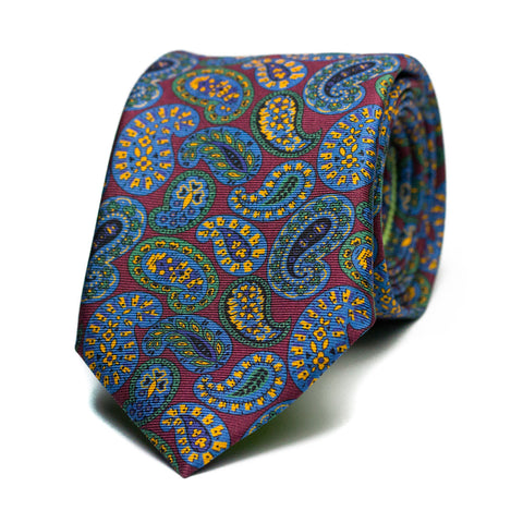 ADLÁTERE - Printed silk tie with initials - The Seëlk - 1