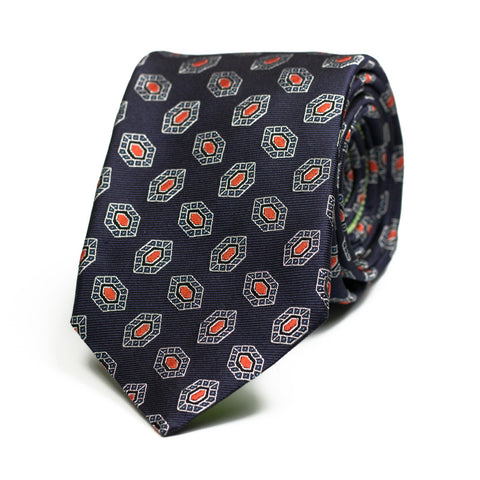 AILUROPHILE - Jacquard silk tie with initials - The Seëlk - 1