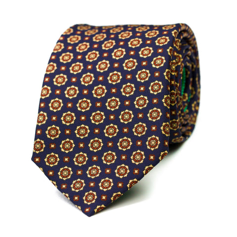 ALUCINACIÓN - Ancient Madder silk tie with initials - The Seëlk - 1