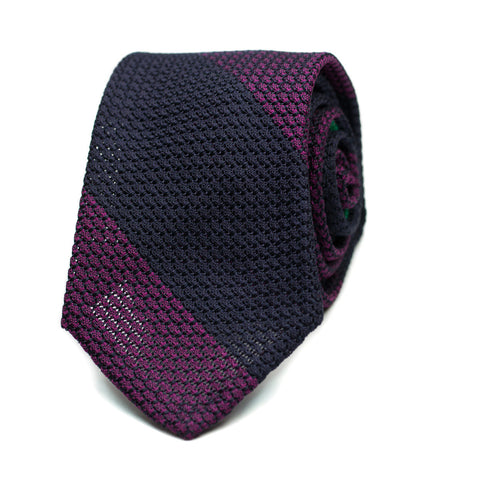 AMBROZ - Grenadine silk tie with initials - The Seëlk - 1