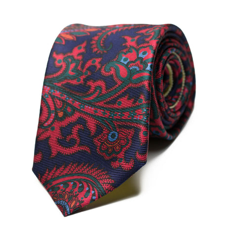 ANASOGNOSIA - Ancient Madder silk tie with initials - The Seëlk - 1