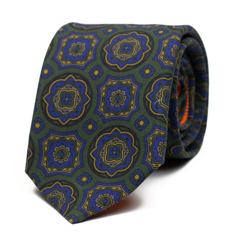 APEX - Printed silk tie with initials - The Seëlk - 1