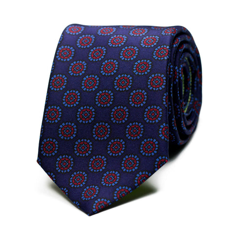 ASTASIA - Ancient Madder silk tie with initials - The Seëlk - 1