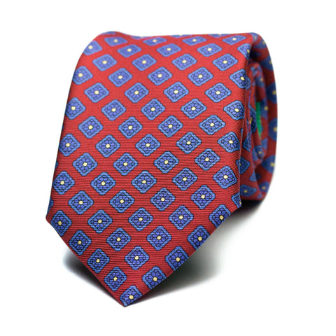 ATROPAR - Printed silk tie with initials - The Seëlk - 1