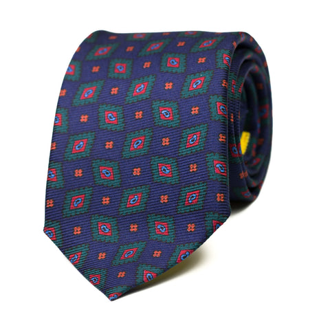 BERRINCHE - Ancient Madder silk tie with initials - The Seëlk - 1