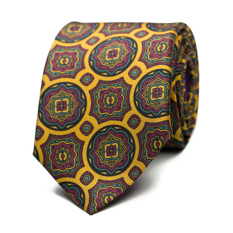 BLUTOIR - Printed silk tie with initials - The Seëlk - 1