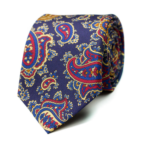 BLUYÍN - Printed silk tie with initials - The Seëlk - 1