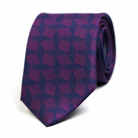 BRINDILLE - Printed silk tie with initials - The Seëlk - 1